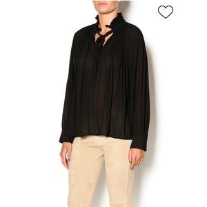 Ark & Co Pleated Blouse Black